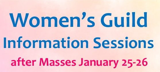 Women's Guild Information Sessions